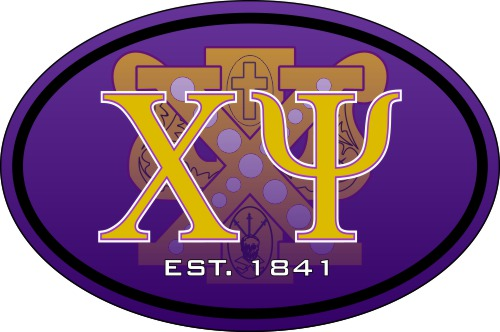 Chi Psi Color Oval Decal
