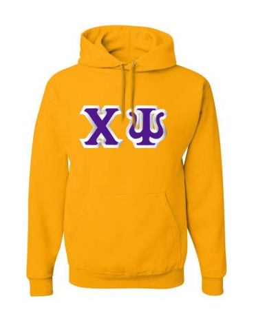 $40 Chi Psi Custom Twill Hooded Sweatshirt