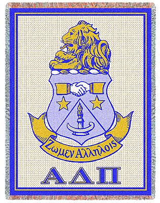 Alpha Delta Pi Afghan Blanket Throw