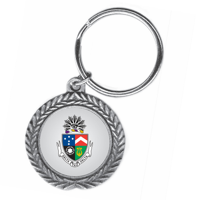 Delta Tau Delta Pewter Key Ring