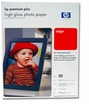 "8.5"" X 11"" HP Premium Plus High Gloss Photo Paper - 50 Sheets"