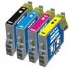 Set of Remanufactured Epson Stylus C68 / C88 / CX3800 / CX3810 / CX4200 / CX4800 / CX5800F / CX7800 Inkjet Print Cartridges