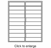 "Maco ML-2000 White Inkjet & Laser Printer Address Labels - 1"" x 4"" (Avery # 5161 Compatible) - click to enlarge"