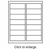 """Maco IJ-1425 White Inkjet Printer Address Labels - 1&1/3"""" x 4"""" (Avery # 8162 Compatible) - click to enlarge"""