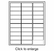 """Maco IJ-3025 Inkjet Address Labels - 1"""" x 2&5/8"""" (Compatible with Avery #8160) - click to enlarge"""