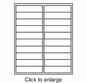 """Maco IJ-5866 White 1"""" x 4"""" Inkjet Address Labels (Avery # 5161 Compatible) - click to enlarge"""