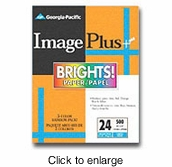 "Georgia Pacific Image Plus Brights Paper - 8.5"" x 11"" - 500 Sheets - click to enlarge"