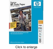 HP Premium Photo Paper, soft gloss (50 sheets, 8.5 x 11-inch) - click to enlarge