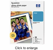 HP Premium Photo Paper, glossy (50 sheets, 8.5 x 11-inch) - click to enlarge