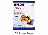 Epson Index Card Photo A6-Size 50pk - click to enlarge