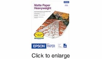 Epson SB-Size Inkjet Matte Heavy Paper 50pk - click to enlarge