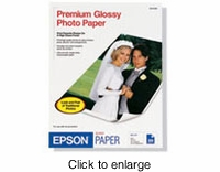 "Epson 4""x 6"" Inkjet Premium Photo Paper 40pk - click to enlarge"