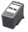 Recycled Canon PG-50 (High-Capacity) Black Inkjet Cartridges
