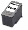 Recycled Canon PG-40 Black Inkjet Cartridges (Standard Capacity)