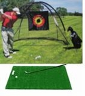 FREE SHIPPING!  Golf Cage Net and Golf Driving Mat Combo