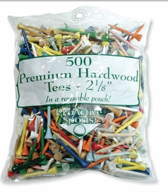 Free Shipping!  500 Count Wood Golf Tees Assorted Colors!