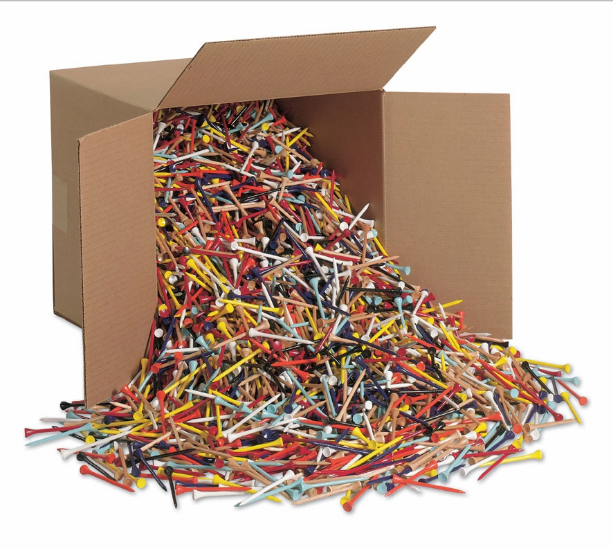 """Ridiculous Size Box of 10,000 2 1/8"""" or 2/ 3/4"""" Bulk Golf Tees"""" title=""""Ridiculous Size Box of 10,000 2 1/8"""" or 2/ 3/4"""" Bulk Golf Tees"""