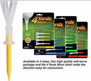 Free Shipping!  4 Yards More Golf Tee | Four More YardsTees