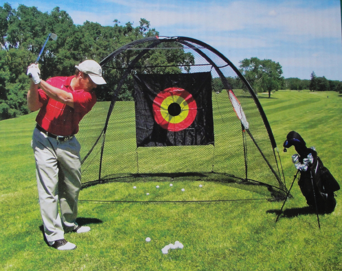 Golf Cage Net And Golf Driving Mat Combo