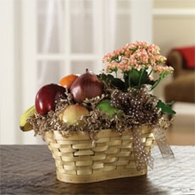 Fruit & Blooming Basket