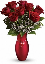 Lg -All My Heart Bouquet Valentine rose