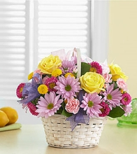 1-800-FLOWERS® Bright Flower Basket