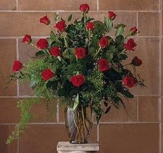 Red Rose Tribute Vase