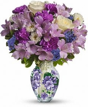 Teleflora's Sweet Violet Bouquet Flowers