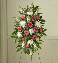 Sympathy Standing Spray with Roses