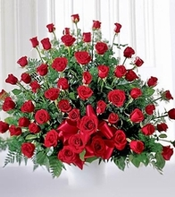 Red rose Sympathy Arrangement