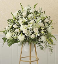 All-White Sympathy Standing Basket