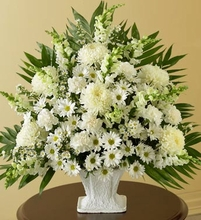 Sympathy Basket in White sm