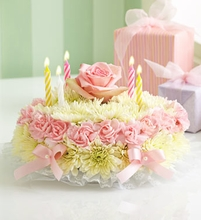 Birthday Flower Cake Pastel Sm