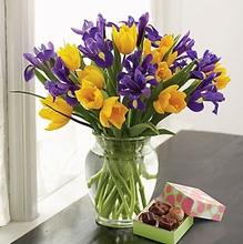 Tulip and Iris Bouquet