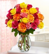 Two Dozen Mother's Day Multicolored Roses