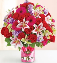 Valentine's  Flowers Mixed Rose bouquet