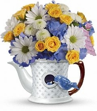 Peek-a-Bird Bouquet Flowers