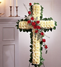 Cross With Roses Sympathy