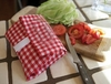 WRAP N MAT RED/WHT GINGHAM