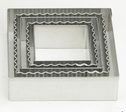 CRINKLE SQUARE COOKIE CUTTER
