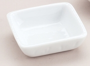 SOY DISH SQUARE WHITE