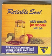 Reliable Seal Wide Mouth Jar Rubbers w/Tab