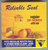 Reliable Seal Canning Jar Rubbers w/ tab - Regular size