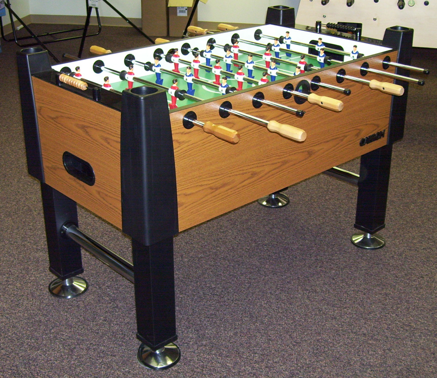 Carrom Signature Burr Oak Foosball Table Display Model