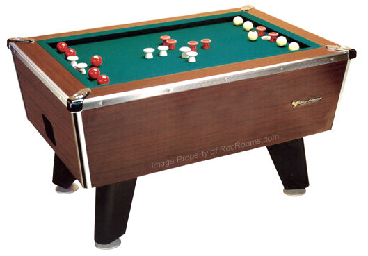 Great American Bumper Pool Table - Inside a pool table