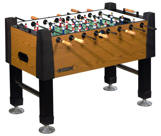 Carrom Signature Burr Oak Foosball Table