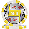 Four Aces Poker Chips (11.5g) w/ Denominations