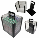 1000 Poker Chip Capacity Clear Carrier