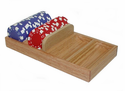 Oak Poker Chip Tray Holder - Holds 100 Chips