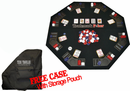 Texas Traveller Four Fold Poker Table Top with Chips & Case